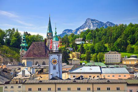 salzburg: Tower of Town hall in Salzburg, Austria Stock Photo