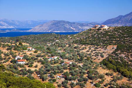 azure coast: Greek landscape, Poros, Greece