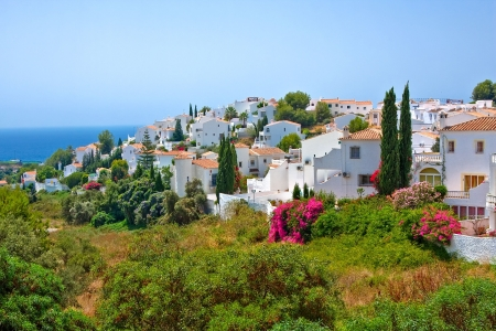 malaga: Spanish landscape, Nerja, Costa del Sol, Spain Stock Photo