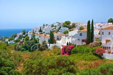 andalucia: Spanish landscape, Nerja, Costa del Sol, Spain Stock Photo