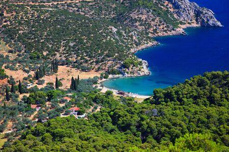 Small quiet bay on greek island,  Poros Stock Photo - 6005905
