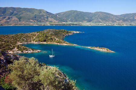 poros: Small quiet bay on Poros island, Greece