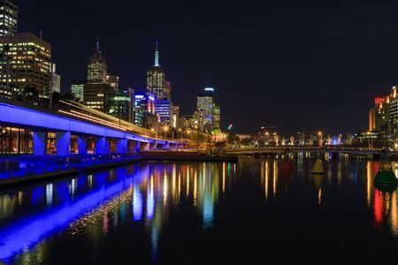 city living: Downtown of Melbourne at night