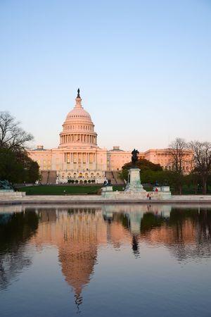 Capitol Hill at sunset, Washington DC photo