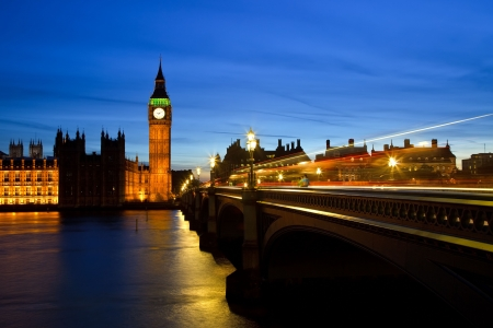Big Ben and Houses of Parliament at night, London, UK Stock Photo - 6082992