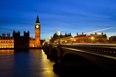 londre nuit: Big Ben et chambres du Parlement dans la nuit, Londres, Royaume-Uni Banque d'images