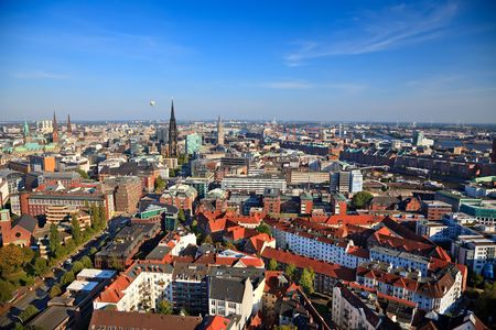 View on Hamburg from Michel, Germany photo