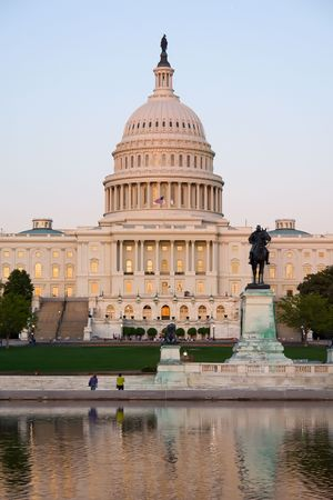 Capitol Hill at sunset, Washington DC Stock Photo - 6324399