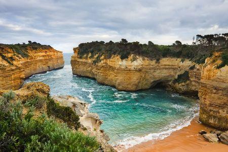strand australie: Twaalf apostelen, weg van de grote Oceaan, VIC, Australië Stockfoto