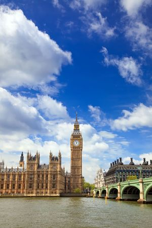 Big Ben and Houses of Parliament, London, UK Stock Photo - 6324403