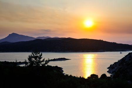 Sunset over Aegean sea, Greece Stock Photo - 6367254