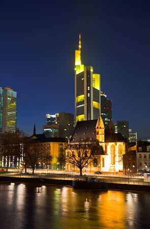 Frankfurt at night, Germany photo