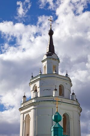 boldino: Belltower of old russian church Stock Photo