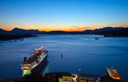 Pier on Poros, Greece photo