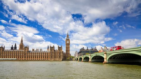 westminster: Big Ben and Houses of Parliament, London, UK Stock Photo
