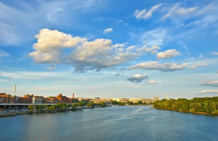 washington landscape: Potomac river, Washington DC Stock Photo