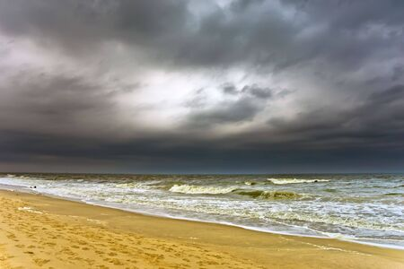 Stormy weather, Atlantic ocean coast, MD, USA photo