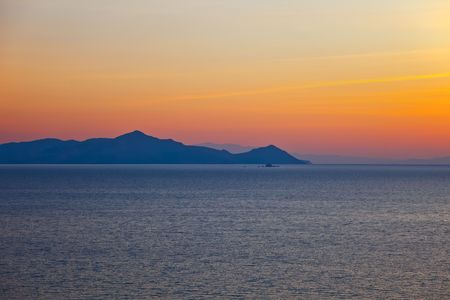 Islands in Aegean sea at sunrise, Greece Stock Photo - 6503510