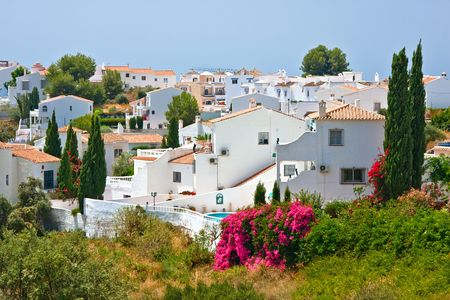 del: Spanish landscape, Nerja, Costa del Sol, Spain Stock Photo