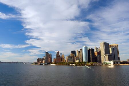 View on Manhattan from Hudson River photo