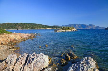 poros: Wild beach, Poros, Greece