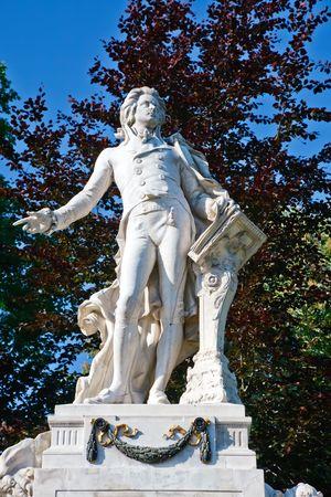 mozart: Statue of Wolfgang Amdeus Mozart in Burggarten, Vienna