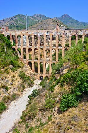 nerja: Old aqueduct in Nerja, Costa del Sol, Spain Stock Photo