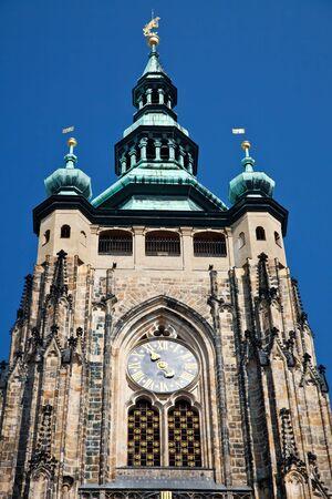 vitus: Detail of St. Vitus Cathedral, Prague