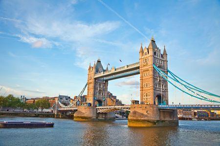 thames river: Tower Bridge, London, UK