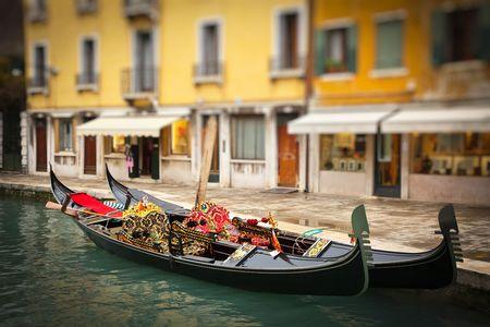 Traditional gondoles in Venice Stock Photo - 6918485