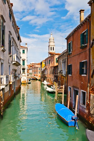 Canal in Venice at sunny day Stock Photo - 7315270