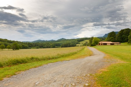 pyrenees: French countryside: beautiful landscape in Pyrenees