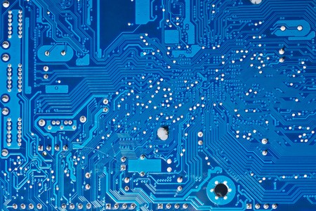 Close up of computer circuit board Stock Photo - 7370512