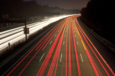 Night time traffic on highway Stock Photo - 7417175