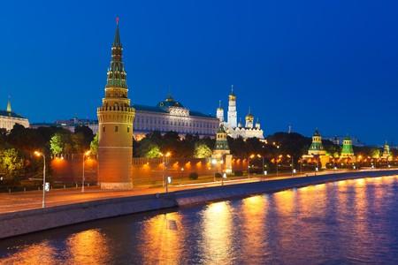 Moscow kremlin at night photo