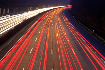 Night time traffic on highway Stock Photo - 7459390