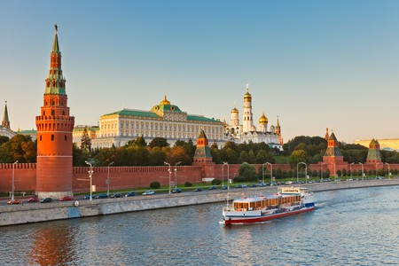Moscow kremlin at sunset Stock Photo - 7459383