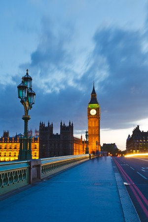 Big Ben at night, London, UK photo