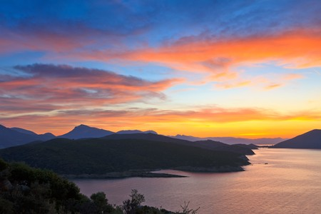 Sunset over Aegean sea, Greece Stock Photo - 7605979