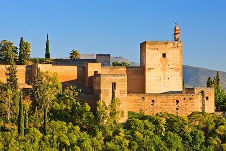 Alhambra al atardecer, Granada, Espa�a