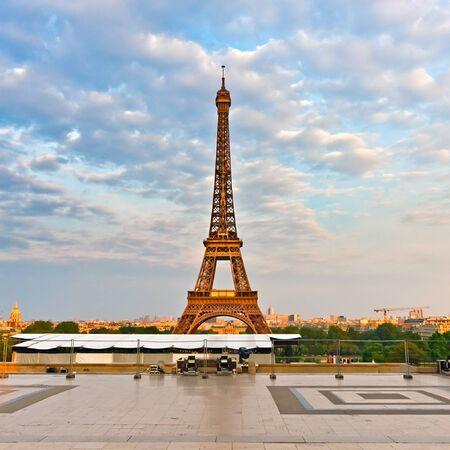 Eiffel Tower at evening, Paris, France photo