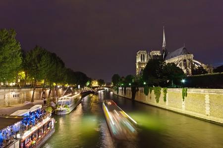 Notre Dame de Paris at night Stock Photo - 7605970