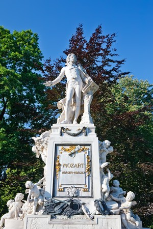 amadeus: Statue of Wolfgang Amdeus Mozart in Burggarten, Vienna