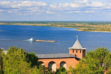 View on Volga river from Nizhny Novgorod Kremlin, Russia Stock Photo - 7908706