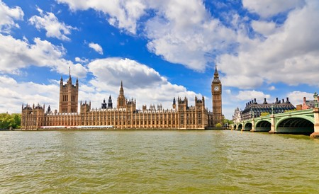 View on Houses of Parliament, London, UK Stock Photo - 7908708