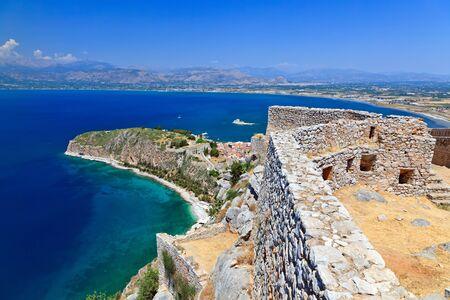 Palamidi castle and Nafplion city, Greece  photo