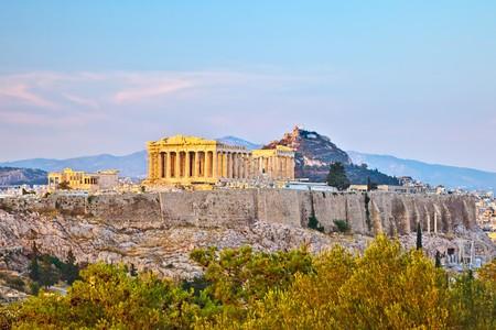 Blick auf die Akropolis, Athen, Griechenland