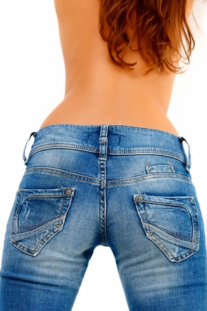 Back of a girl in blue jeans Stock Photo - 7893637