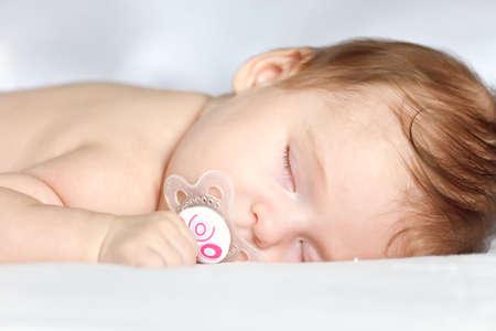 Sleeping baby girl Stock Photo - 8092920