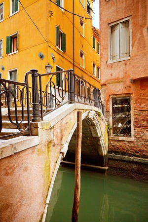 Small bridge in Venice photo